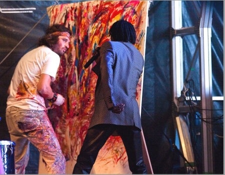 KILFORD PAINTING LIVE WITH BAABA MAAL - picture credit Guy Levy